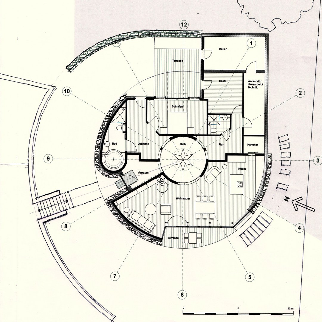 Baar l schner freie architekten erdh gelhaus mei en for Wohnhaus grundriss